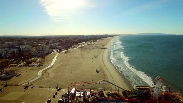 Los Angeles Aerial Santa Monica Pier video