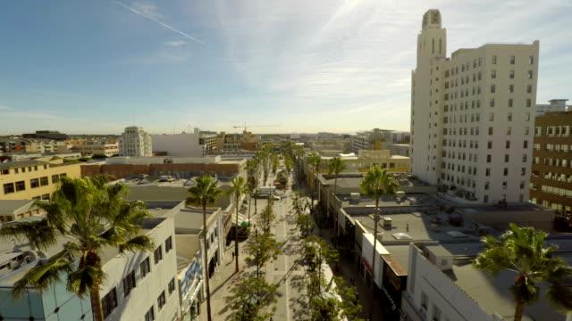 Los Angeles Aerial Santa Monica Third Street Promenade video