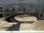 Los Angeles: Downtown Concrete Bridge Over Dry Cement River video