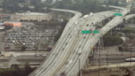 Los Angeles Freeway Overhead Day video