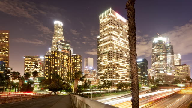 Los Angeles Night Freeway Time-Lapse video