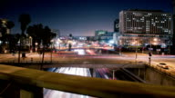 Los Angeles Night Hyper-Lapse Time-Lapse video
