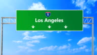 Los Angeles road signs. Los Angeles highway sign. L.A. video