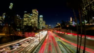 Los Angeles Rush Hour Traffic at Sunset Timelapse video