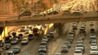 Los Angeles Rush Hour with Overpass Traffic video