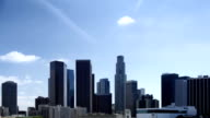 Los Angeles Skyline and Clouds video