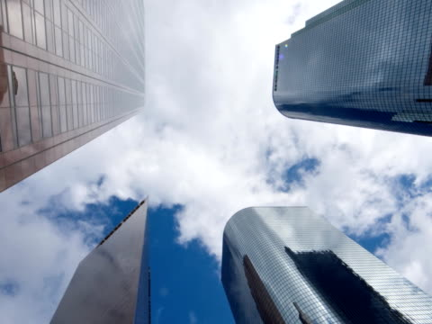 Los Angeles Skyscraper Time Lapse zoom back video