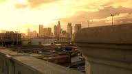 Los Angeles Sunrise Skyline Timelapse video