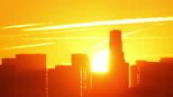 Los Angeles Sunrise Time Lapse (Close Up) video