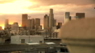 Los Angeles Sunset Skyline Timelapse video