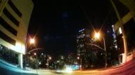 Los Angeles Traffic & Skyline at Night video