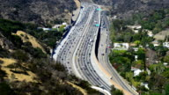 Los Angeles with busy freeway video