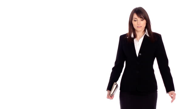 Lost female executive. Stop-motion. video