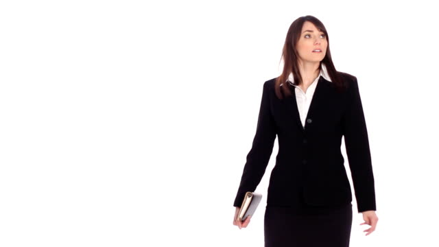 Lost female executive. Two shots. video