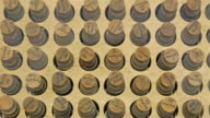 Lots of bottles with cork covers video