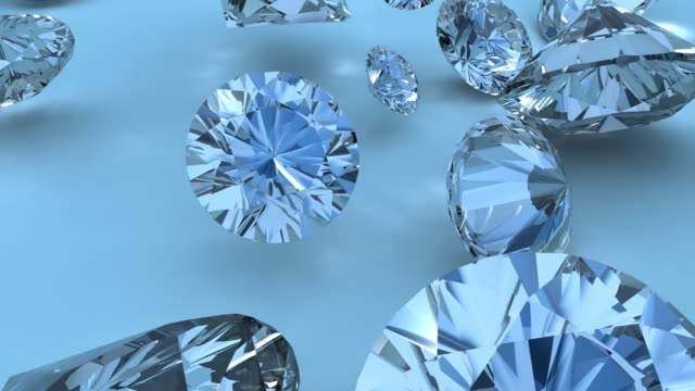 Lots of Diamonds falling into View video