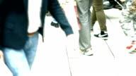 Lots Of People Walking In Shopping Street (4K/UHD to HD) video