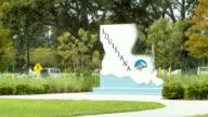 Louisiana Welcome Center on Interstate 10 Medium Shot video