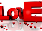 love 3d with hearts (PAL25P) video