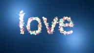 love background, particle letters video