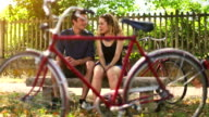 Love framed in a bicycle video