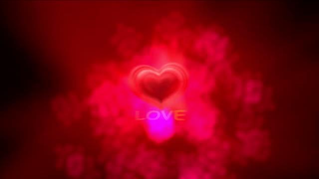 love heart 4k video