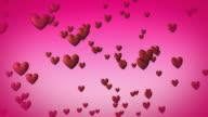 Love hearts Falling video