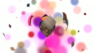 love patchwork, heart made with colorful pieces of cloth video