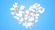 Love Shape Particles Blue background video