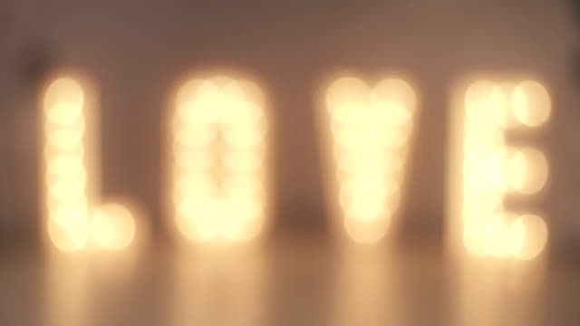 Love sign recorded in slowmotion video