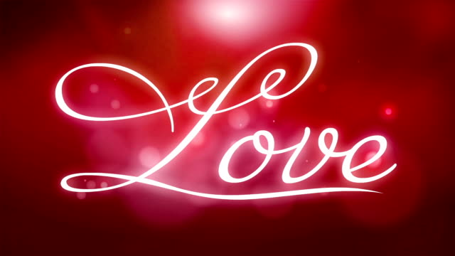 Love text written out - 3D animation - reveal - 2 versions with alpha channel video
