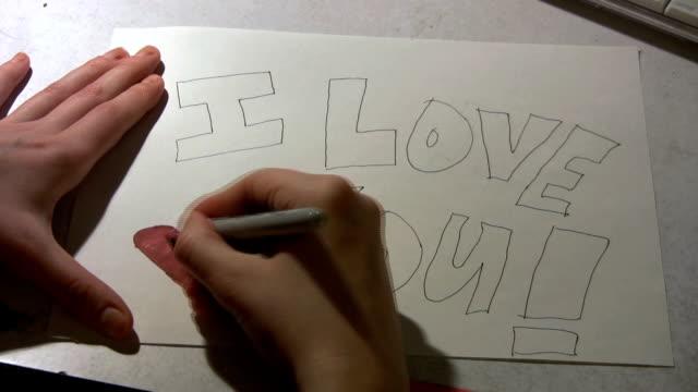I Love You! Illustration - (Time Lapse) video