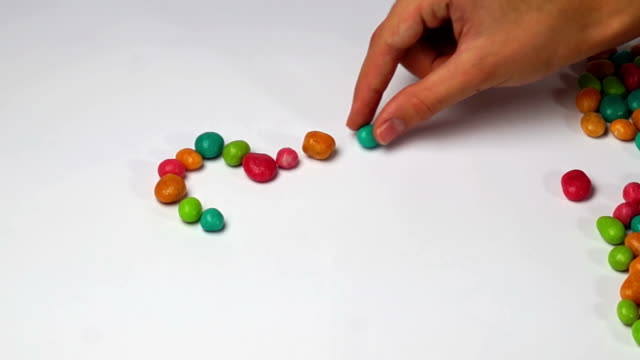 I love you of colored round candy video