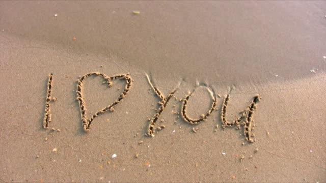 I love you - word on beach video