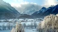 LD Lovely alpine valley in wintertime video