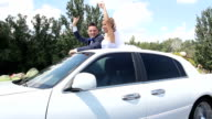 lovely couple at wedding car 01 video
