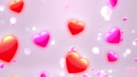 Lovely Hearts 2 Loopable Background video
