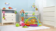 HD DOLLY: Lovely Nursery Room Waiting For Baby video