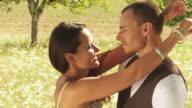 Loving couple kiss video
