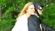 HD SLOW MOTION: Loving Couple On A Moped video