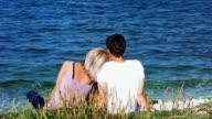 HD: Loving Couple On The Beach video
