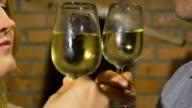 HD: Loving Couple Tasting Wine video