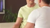 HD: Loving Gay Couple Having Conversation video