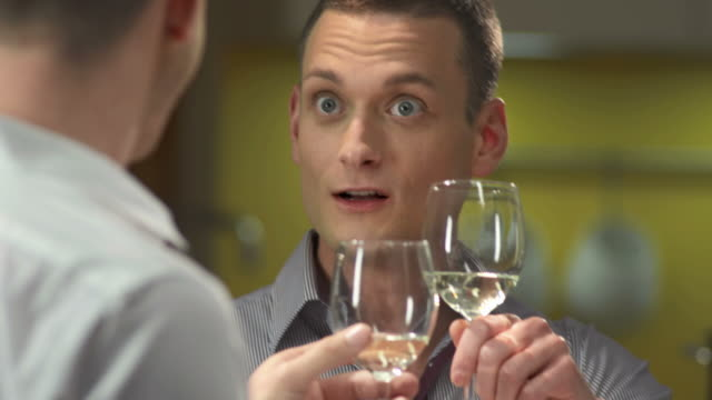 HD: Loving Gay Couple Having Dinner video