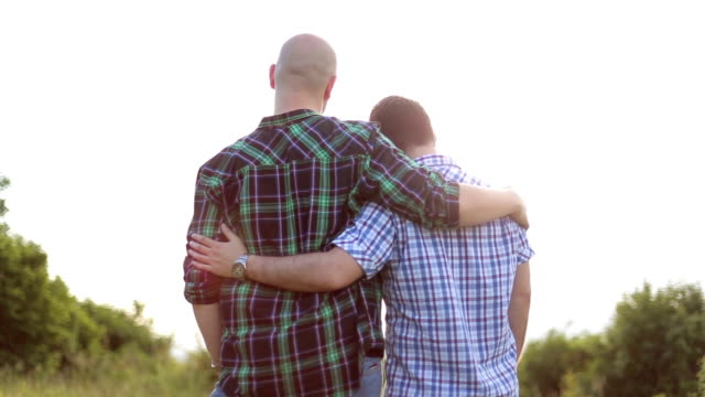 Loving gay couple video