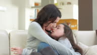 HD: Loving Mother Snuggling Her Daughter video