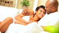 Loving Young African-American Couple video