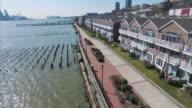 Low Aerial Shoreline Flyover Of Condos On River Road NJ Hudson County video