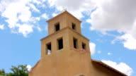 Low angle of a Historic Adobe Catholic Church video
