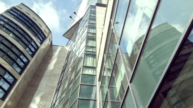 Low angle of tall business center video